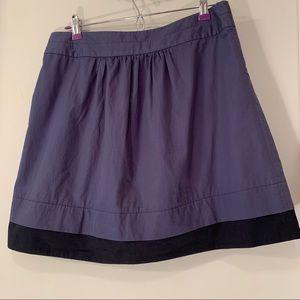 J Crew blue cotton skirt with pockets sz 8